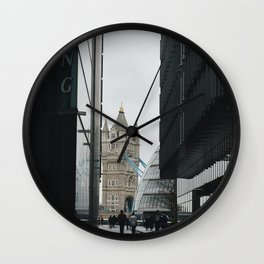 Rainy day in London City Wall Clock