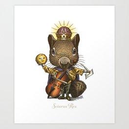 King of Squirrels Art Print