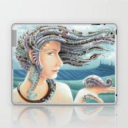 Portrait by the sea 2 Laptop & iPad Skin
