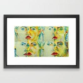 Positioning - faces 1 Framed Art Print