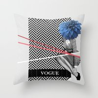 vogue Throw Pillows featuring Vogue by Frank Moth
