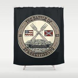 Battle of Spaghettisburg Shower Curtain