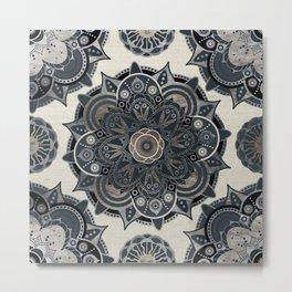 Silver Mandala Metal Print
