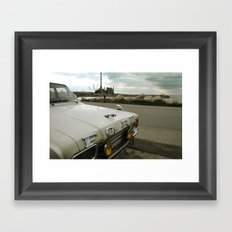 Travel Away on a Rainy Day Framed Art Print