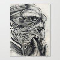 garrus Canvas Prints featuring Garrus  by VWelch78