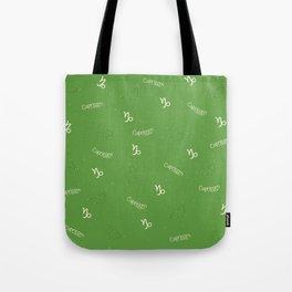 Capricorn Pattern - Green Tote Bag