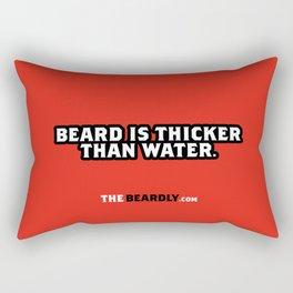 BEARD IS THICKER THAN WATER. Rectangular Pillow