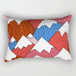 The Red Mountains (Pattern) Rectangular Pillow