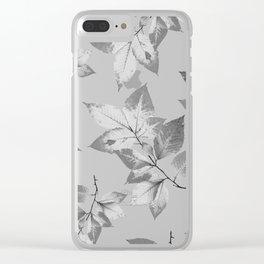 Elegant Leaves Clear iPhone Case