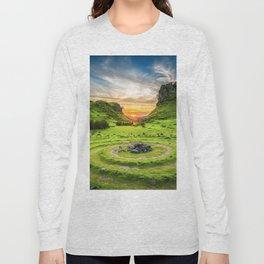 Green nature circle Long Sleeve T-shirt