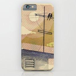 Romantic birds iPhone Case