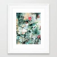 hummingbird Framed Art Prints featuring Hummingbird by RIZA PEKER