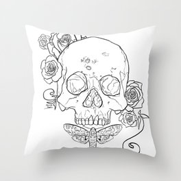 Syphilis outlines Throw Pillow