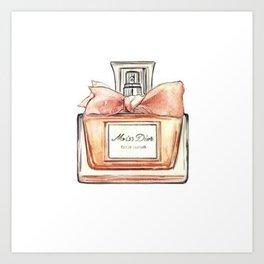 Perfume Bottle Watercolor Art Print