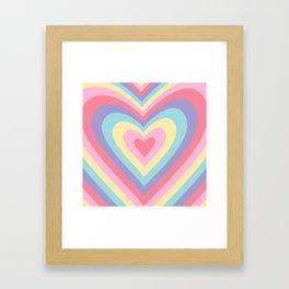 Colorful rainbow hearts Framed Art Print
