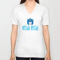optimus prime V-neck T-shirts featuring Optimus Prime by IlPizza