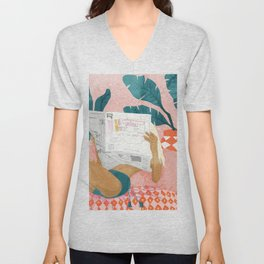 Morning News Unisex V-Neck
