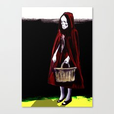 Little Blood Red Riding Hood Canvas Print