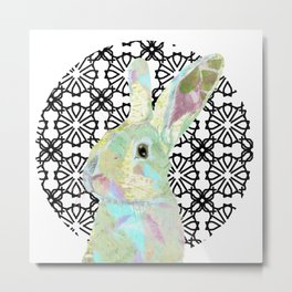Bunny Bliss Metal Print