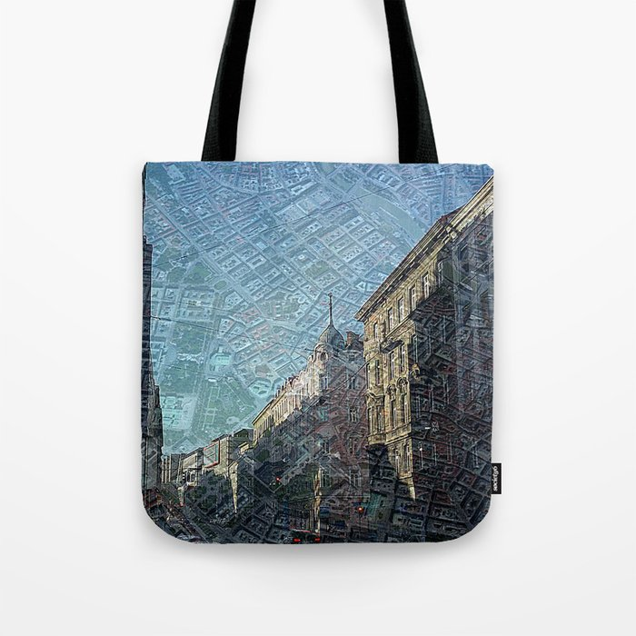 Vienna on Maps Tote Bag