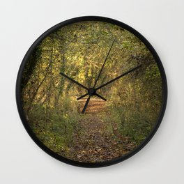 Forest Pathway Wall Clock