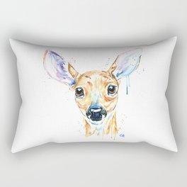 Peekaboo Deer Rectangular Pillow