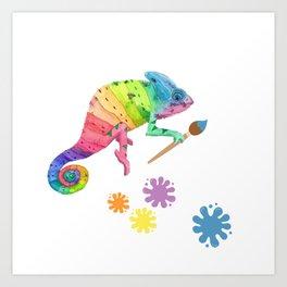 Artist Chameleon Art Print