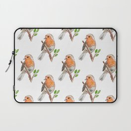 Robin Bird Watercolor Laptop Sleeve