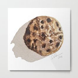 Chocolate Chip Cookie -  Watercolour Illustration By Scarlett Damen Metal Print