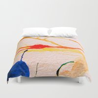 kandinsky Duvet Covers featuring The Spider and the Web by Lord Egon Will