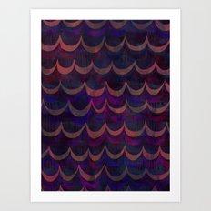 Mia Wave {purple} Art Print