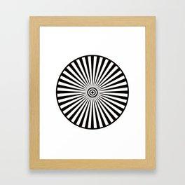 Trippy Bullseye Framed Art Print