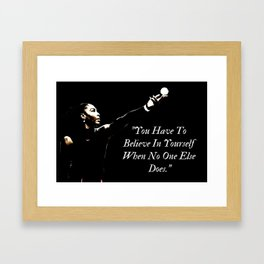 Believe In Yourself Quote Motivational Framed Art Print