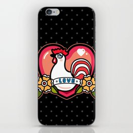 LOVELY ROOSTER iPhone Skin