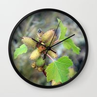plant Wall Clocks featuring Plant by BACK to THE ROOTS