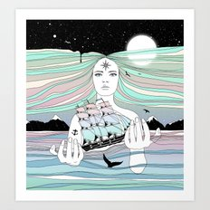 Journey to A Greater Existence (Your Life On Your Hands) Art Print