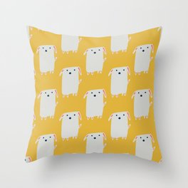 Cute sweet Dog Yellow Throw Pillow