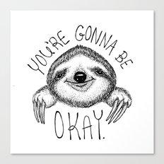 Slothspiration Canvas Print