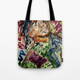 colorful hiphop,poster,lil,rap,artist,music,lyrics,colourful,poster,cool,dope,print,uzi Tote Bag