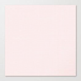 tiny pink grid Canvas Print