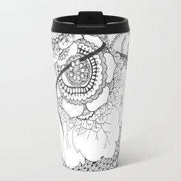 Anatomical Heart Flowers Travel Mug