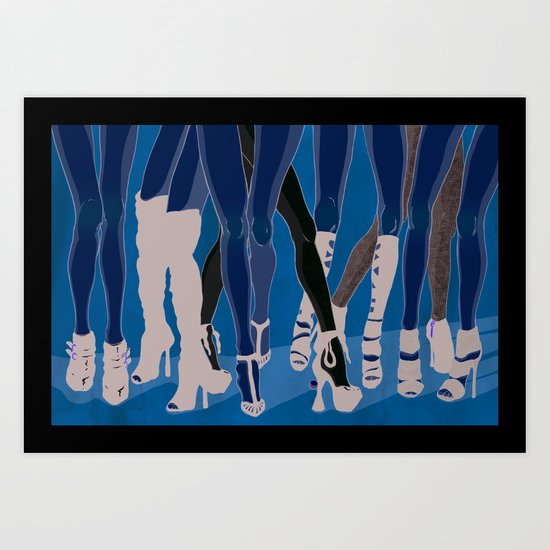 Z!NK Magazine: What is it about women in heels? Art Print