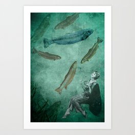 Smell of the sea Art Print