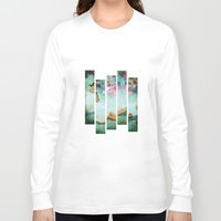 swimming Long Sleeve T-shirts featuring swimming by Rosa Picnic