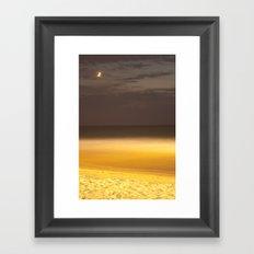 Moon over seaing Framed Art Print