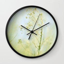 Pastel Blues and Greens Wall Clock