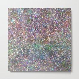 Amazing Rainbow Glitter Design Pattern Metal Print