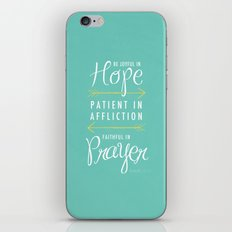 Romans 12:12 iPhone & iPod Skin