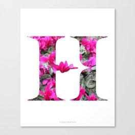 LL Series: H Canvas Print