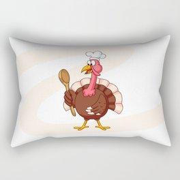 Cartoon Turkey Cook Rectangular Pillow